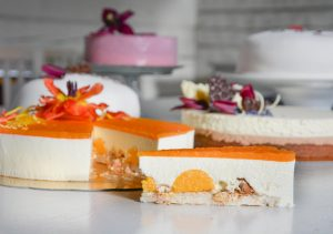Cheesecake med orange glasyr