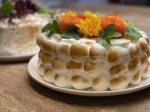 Marängtårta med orange topping